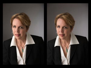 Edited and Unedited Female Executive Headshot Portrait Examples