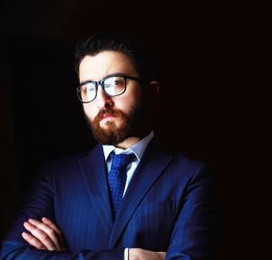 Businessman Headshot on Black Background